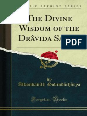 The Divine Wisdom of the Dravida Saints pdf