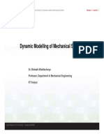 dynamic modelling of mechanical system