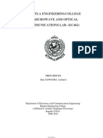Microwave and Optical Communications lab manual