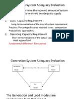 Generation System Adequacy Evaluation