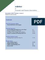 OTEFA Newsletter Dec 2009