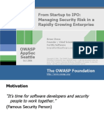 OWASPAppSec2006Seattle_FromStartuptoIPO-Managing_Security_Risk