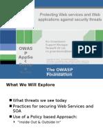 OWASPAppSecEU2006_ProtectingWebServicesAndAapplications
