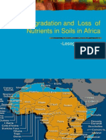 Soil Degradation and  Loss  of Nutrients in Soils in Africa