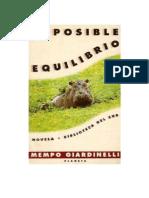 Mempo Giardinelli-Imposible Equilibrio -Planeta (1995)