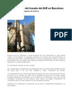 Inconvenientes del trazado del AVE por la Sagrada Família