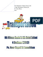 Transportation Scrapbook