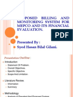 Propsed Billing and Monitoring System for Mepco Project Defense