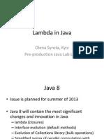 Lambda in Java8
