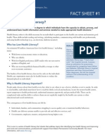 chcs health literacy fact sheets1 2013