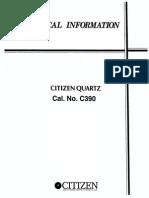 Citizen Instruction Manual C390