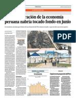 La Desaceleración de La Economía Peruana Habría Tocado Fondo en Junio