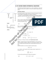 APPLICATIONS OF SECOND-ORDER DIFFERENTIAL EQUATIONS