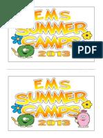 Summer Camp (Activity Card)