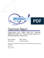 Improving the IEEE 802.15.4 Slotted CSMA CA MAC for Time Critical Events in Wireless Sensor Networks