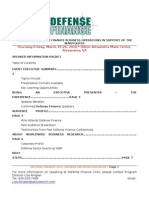 Defense Finance 2010 Speaker Information Packet