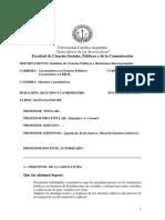 Programa Métodos Cuantitativos 2013 - Noche