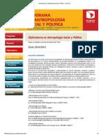 Diplomatura en Antropología Social y Política - FLACSO