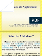 Modem and its applications