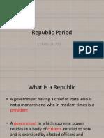 Republic Period