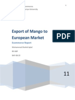 Report on Mango Expotr to EU Markets