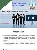 27367986 Valor Ganado Utilizando Microsoft Office Project 2007