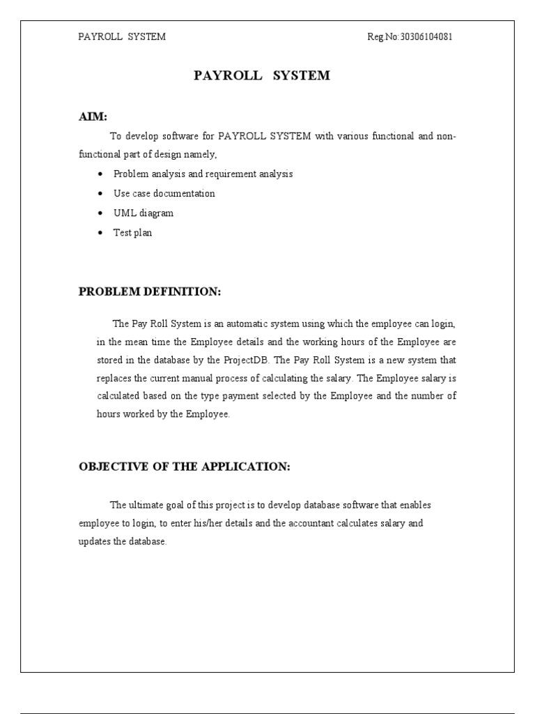 payroll system documentation