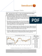 Purchasing Managers' Index - Services, July 2014