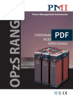 PMI Industrial Batteries Catalogue - OPzS Type