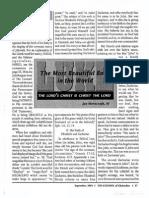 1993 Issue 7 - Sermon on Luke 1:57-80 - The Benedictus - Counsel of Chalcedon