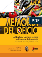 11374 Memoria Mascaras Papel Carnaval de Barranquilla