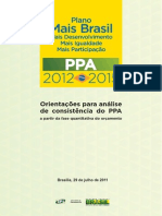 Orientações Para Análise de Consistencia Do PPA