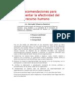 35 Recomendaciones p Incrementar Efectividad DEL EQUIPO