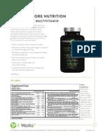 It Works! Its Vital Core Nutrients (Vitamins) Information Sheet