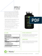 It Works! Its Vital, Omega-3s (Essential Fatty Acids) Information Sheet
