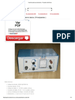 Fuente de Poder Para Laboratorio - Proyectos Electrónicos