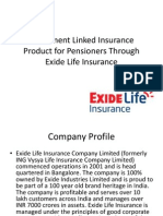 Investment Linked Insurance Product for Pensioners Through Exide Life