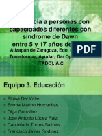 Asistencia a Discapacitados Con Síndrome de Dawn