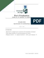 Questionnaire Math 090712