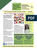 Plum Natural Market August Newsletter