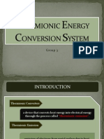 Thermionic Energy Conversion System