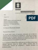 Carta de La Fiscalía a La Cancillería Sobre María Del Pilar Hurtado