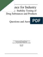 FDA Stability Test