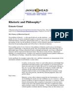 Rhetoric and Philosophy