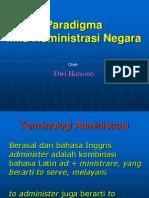 Paradigma Ilmu Administrasi Negara