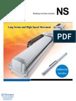 IAI NS Rotating Nut Linear Actuator Specsheet
