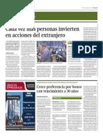 Cada Vez Más Personas Invierten en Acciones Del Extranjero_Gestión 5-08-2014
