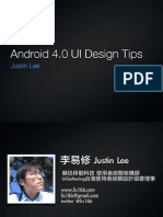 Android UI 4.0 Design Tips