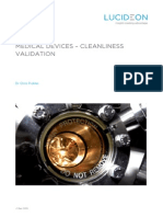Cleanliness Validation White Paper Medical Device