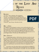 Rules for Raiders of the Lost Art
